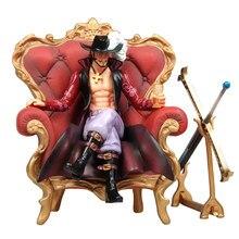 One Piece GK Dracule Mihawk Pirate King Qiwuhai divano trono Pop Hawk Eye Mihok Boxed Handmade Model ornamenti giocattoli da collezione
