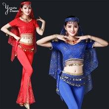 К 2020 году новые танец живота костюм установить с коротким рукавом топы для женщин и для мужчин красный синий танец живота танцы длинные брюки для танца восточная женщина