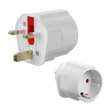 EU Euro 2 Pin to UK 3 Pin Plug Adaptor Universal Adapter Travel Converter European UK Standard Type G 3 Pin Plugs travel adapter power plug type h israel 3 pin standard