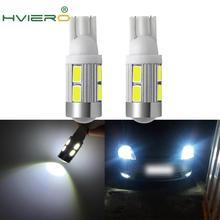 2X 5630 5730 White Red Blue 10Led Auto Light Led T10 W5W 194 168 DC 12v Tail Parking Turn Signal Backup Lights Wedge Lamp