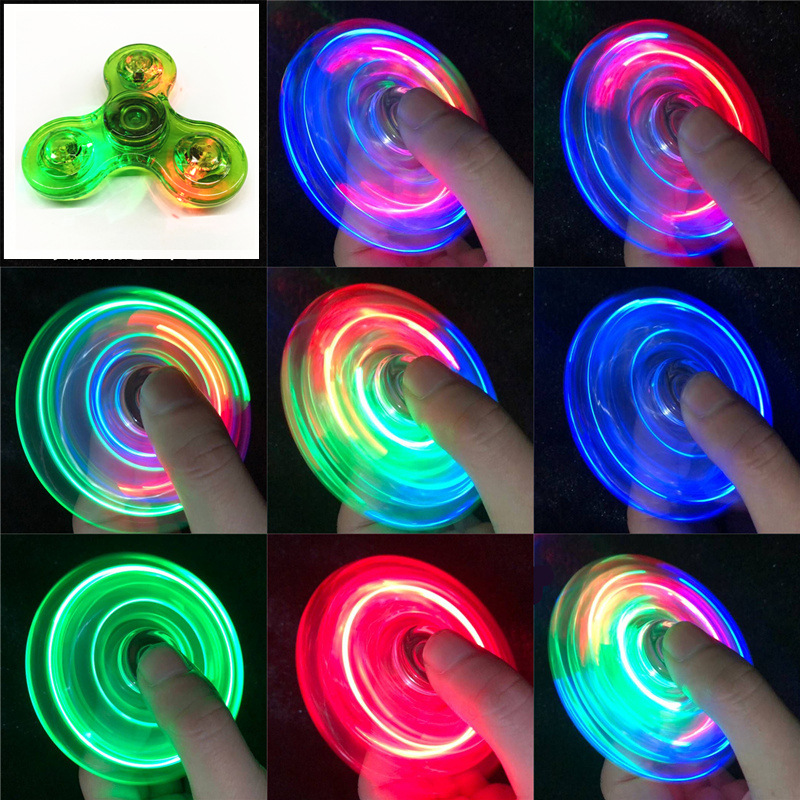 Relief-Toys Spinners Led-Light Kinetic-Gyroscope Hand-Top Edc Stress Glow-In-Dark Luminous img5