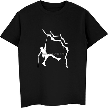 New Men Climb T Shirt Casual Cotton Summer Short Sleeve Funny Mountain T-shirt Mans Tshirt Harajuku Streetwear Fitness Tees Tops - discount item  15% OFF Tops & Tees