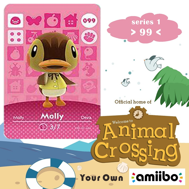 099 Animal Crossing Amiibo Card Molly Amiibo Card Animal Crossing Series 1 Molly Nfc Card Work For Ns Games Fast Shipping