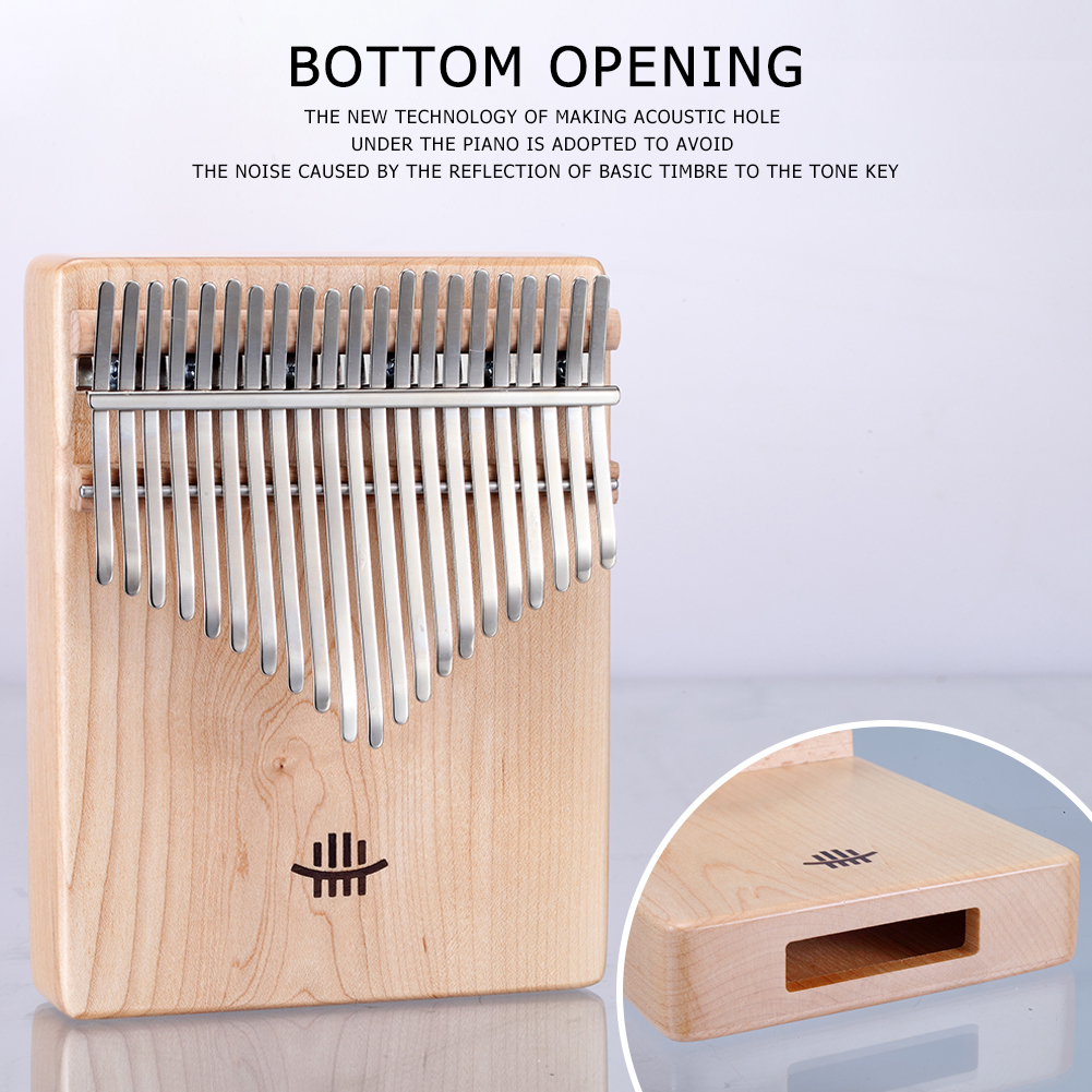 21 Keys Kalimba African Solid Wood Thumb Finger Piano Sanza Mbira Calimba With Cloth Bag Musical Instruments Accessaries