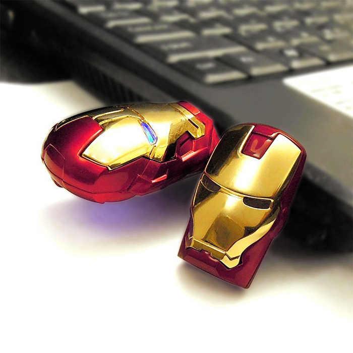 סופר מגיבורי נוקמי עט-כונן מיקרו ברזל איש ראש USB דיסק און קי 2.0 מתכת אחסון דיסק מחשב תמונה מקל אמיתי קיבולת