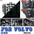 רכב פנים קישוט 20 יח'\סט עבור וולוו XC40 חריץ שער מחצלת דלת חריץ כרית מכסה אוטומטי אבזר אדום/לבן /זוהר