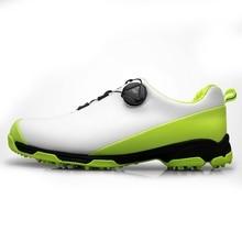 2020 Golf ayakkabıları erkekler için nefes spor ayakkabı su geçirmez Golf ayakkabıları kaymaz erkek eğitim Sneakers Golf ayakkabıları erkek