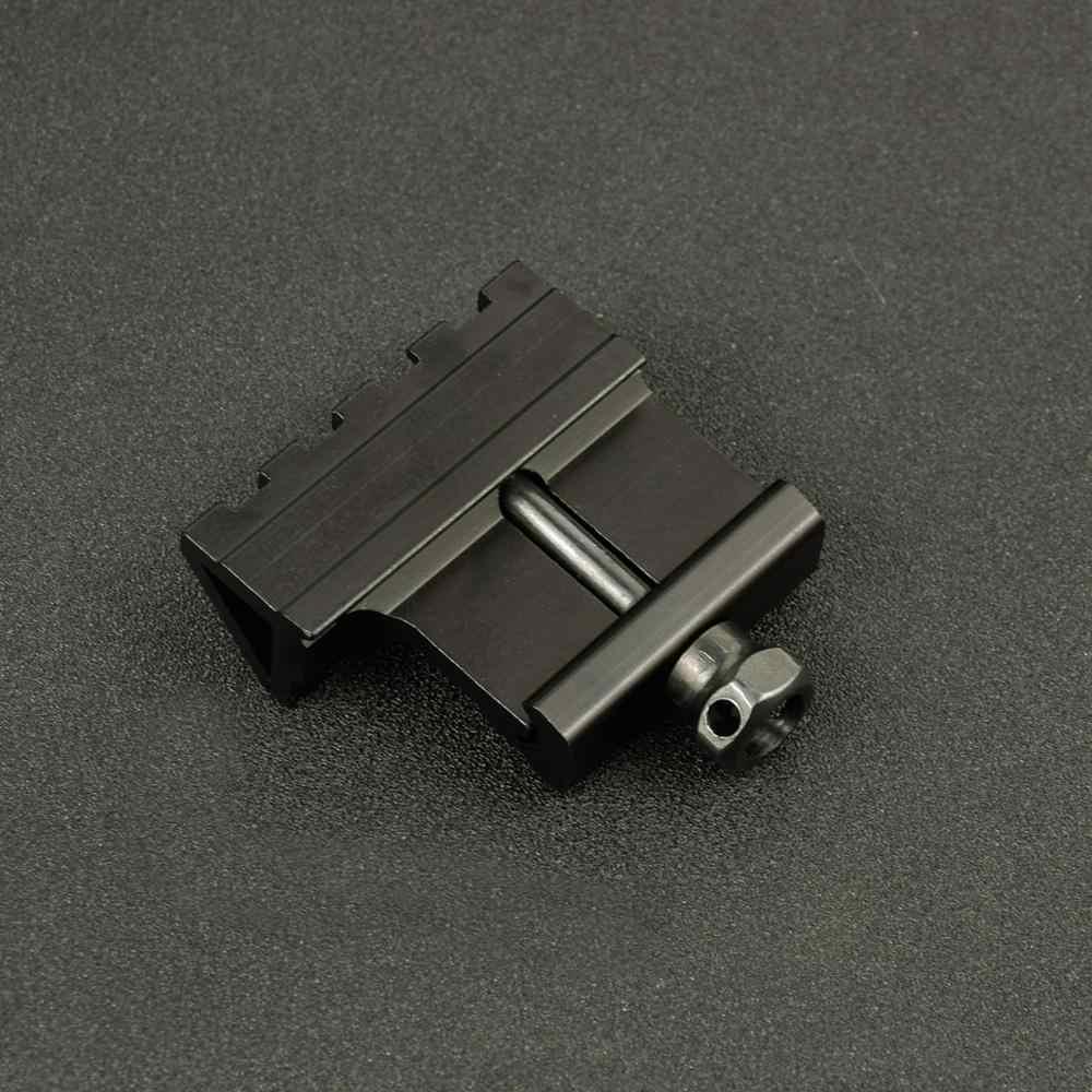 Mira de ángulo táctica de 45 grados, montaje de aluminio Offset, carril lateral de 4 ranuras, vista RTS, carril Airsoft de 45mm, Picatinny Weaver Laser