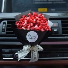 Yaratıcı araba hava spreyi kuru çiçek Gypsophila otomatik klima için hava çıkış koku klip dekor süsleme araba hediyelik parfüm kutusu