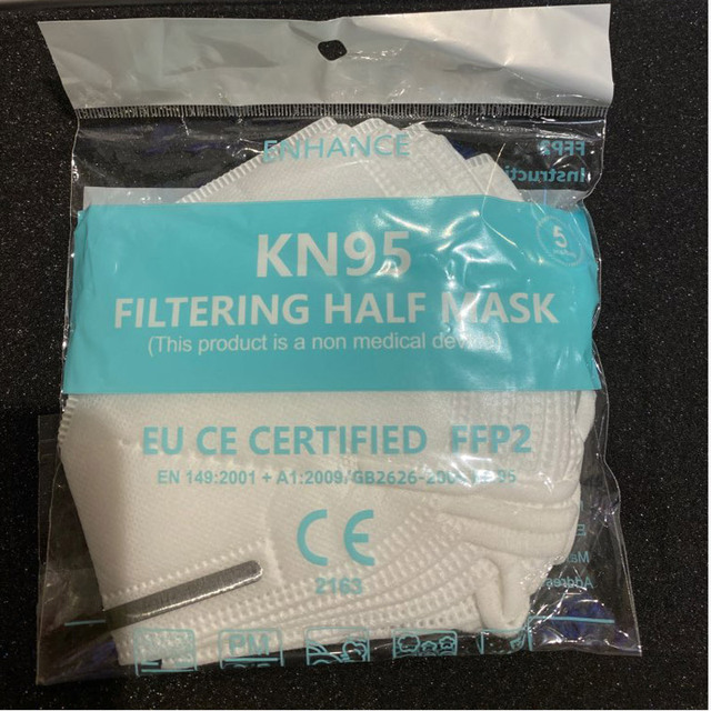 5 pcs bag KN95 Face Mask PM2 5 Anti fog Strong Protective Mouth Mask Respirator Reusable