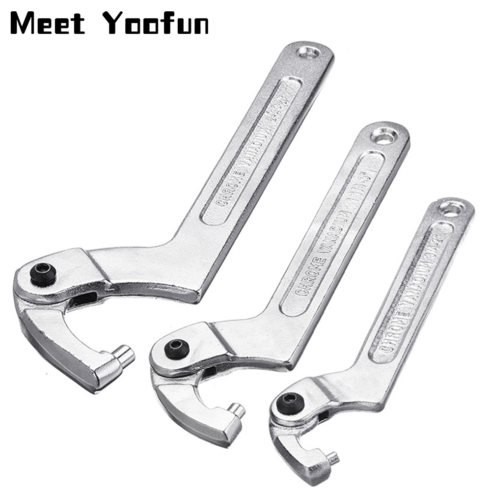 /76/mm Promotion Spanner Multi-tool C Key Adjustable Hook Spanner Tool 32/