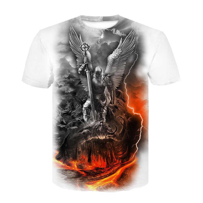 Мужская футболка с черепом, футболка со скелетом, панк-рок, футболка с пистолетом, футболка с 3d принтом, винтажная Готическая Мужская одежда, летние топы