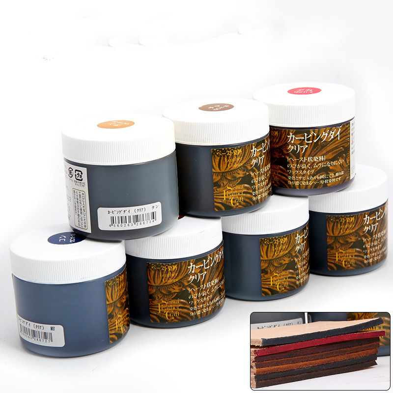 Japan Imported Leather Craft Tokonole Leather Polished Finish 7 Colors Clear & Smooth Treatment Agent Handcraft Sewing 80g
