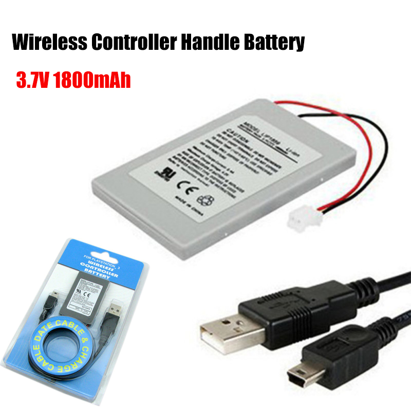 Wireless Controller Handle Battery Pack 3.7V 1800mAh Built-in Battery For Fast-charging For Sony PS3 Bluetooth Controller