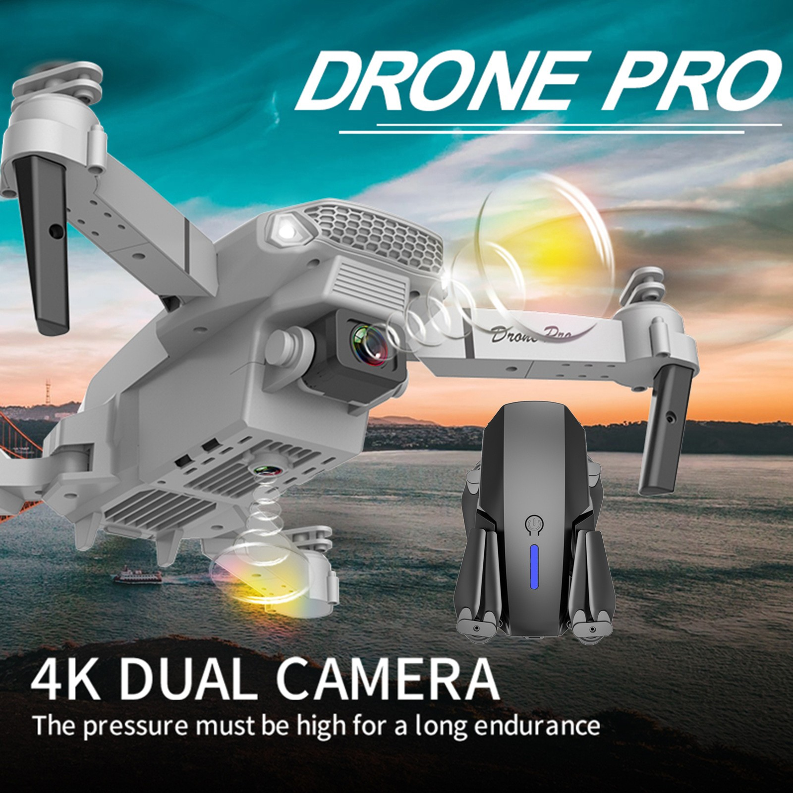 Rc Quadcopter E525 Fpv Drone Wide Angle Hd 4k 1080p Dual Camera Height Hold Foldable Drone Wifi Image Real Time Transmission