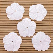 5 шт 27 мм оболочка с полным отверстием цветок натуральный белый
