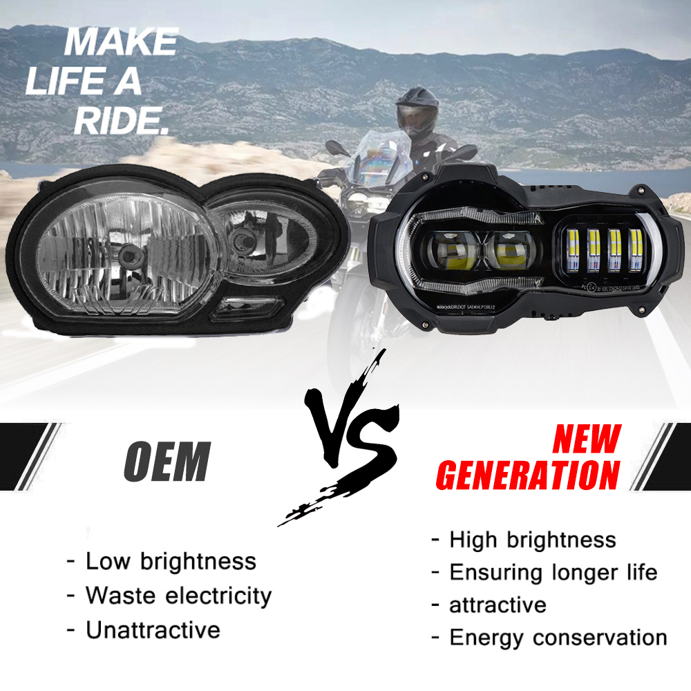 R1200GS Led Headlight For BMW R1200GSA R 1200 GS ADV Adventure Led Headlights Lights Assembly Headlamp (fit Oil Cooler)