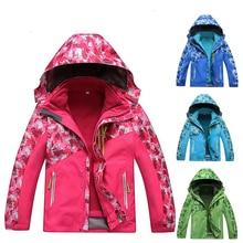 Зимние флисовые теплые флисовые водонепроницаемые куртки для мальчиков и девочек, детские спортивные походные пальто, детская ветровка для кемпинга, катания на лыжах