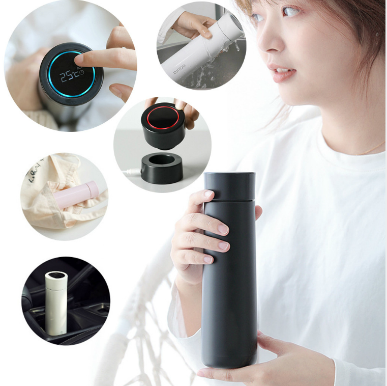 LED Digital Smart Thermos Cup Stainless Steel Water Bottle Travel Water Bottle Kettle Vacuum Flask Drinkware-in Water Bottles from Home & Garden on AliExpress