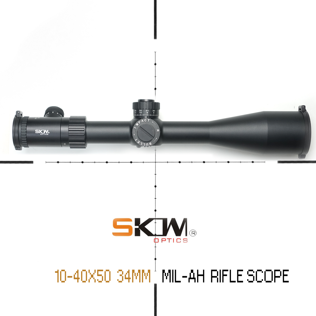 SKWoptics 10-40x56SFIR-AH Side Focus 34mm rifle scope Long Range 34MM CNC RING .308 .338 Illuminated Hunting Tactics reticle