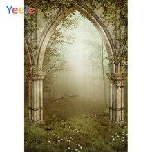 Yeele Vintageเสาประตูป่าWoodsการถ่ายภาพฉากหลังของขวัญสตูดิโอถ่ายภาพพื้นหลังภาพตกแต่งProp