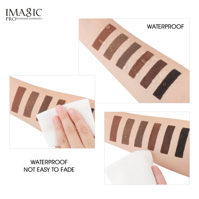 IMAGIC Professional Eyebrow Gel 6 Colors Eyebrow Enhancer Brow Enhancers Tint Makeup Eyebrow Brown With Brow Brush Tools 3