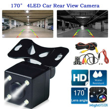 цена на HD Car Rear View Reverse Camera 4 LED Night Vision Reversing Auto CCD Parking Monitor Nigh Parking Assistances Car Accessories