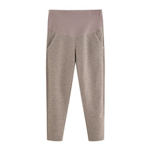 Autumn&Winter Casual Adjustable Maternity Pants for Pregnant Women Clothes Elastic Force