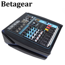 betagear QS-4 DJ mixer  bluetooth mixing console 4-CH Amplifier Mixer power sound profesiional console mixer for dj stage audio
