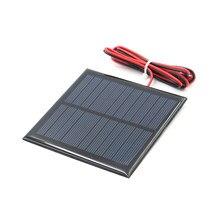 5.5v painel solar estudo policristalino silício diy carregador de bateria pequeno mini célula solar cabo brinquedo volt 5v 70 80 100 160 200ma