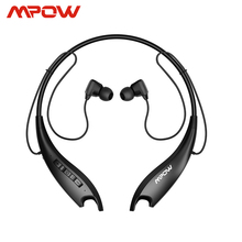Mpow Jaws Gen 5th Bluetooth 5.0 สายคล้องคอหูฟัง 18 H เวลาเล่นหูฟังแม่เหล็กหูฟังไมโครโฟนในตัวสำหรับ iPhone Xiaomi Huwai SONY