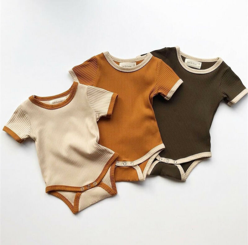 2019 Fashion Newborn Baby Boy Girl Romper Jumpsuit Outfits Knitted Cotton Clothes