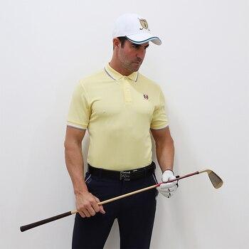 Fashion man Golf polo shirt Pearl cloth Breathable male thin Good quality sport clothing