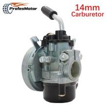 Motorcycle 14mm Carburetor 37cc water cooled Carb Air Filter Kit For 2 Stroke  43 47cc 49cc 2 Stroke Mini Dirt Pocket Bike ATV