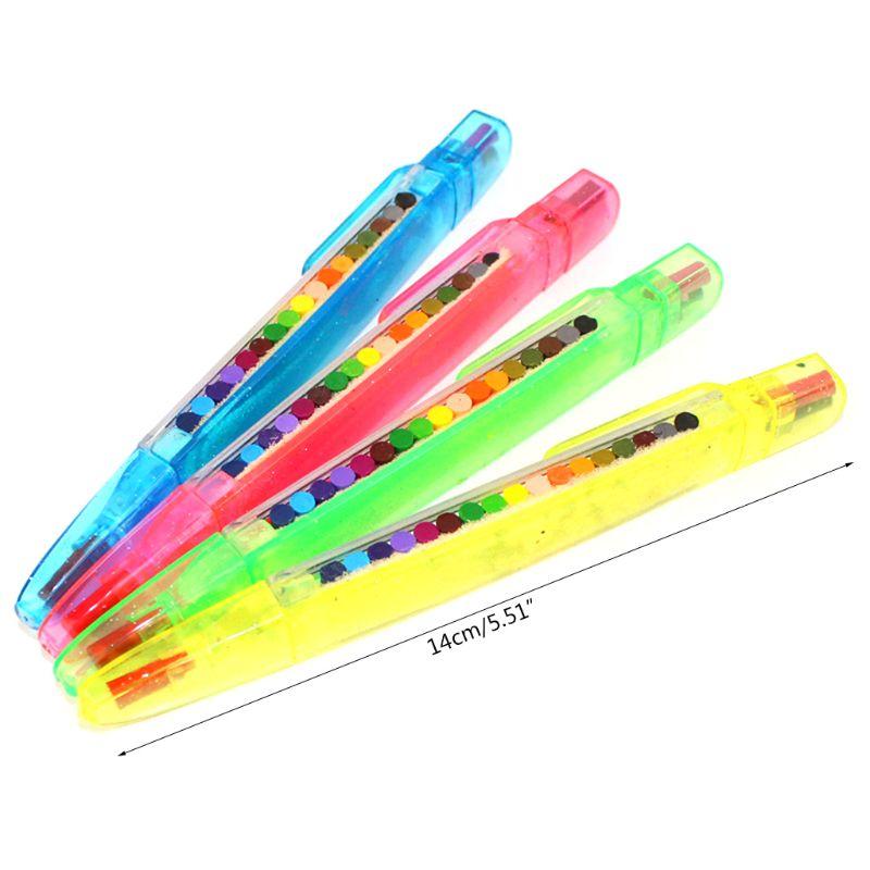 2 Pcs Paint Drawing Crayon Pen 20 Colors Kids DIY Graffiti Pencil Children Art Supplies Painting Tool Educational Toy
