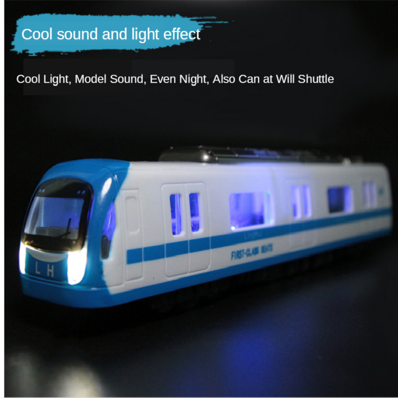 Simulation Subway Model Music High-speed Rail Boy Sound  Light Subway Vehicles  Educational Toys For Kids Gift 1:64 Cars Tram