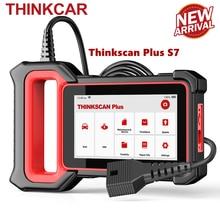 Thinkcar thinkscan plus s7 obd2 scanner de diagnóstico srs abs ecm bcm ic ac sistema óleo dpf epb immo redefinir obdii scanner automotivo