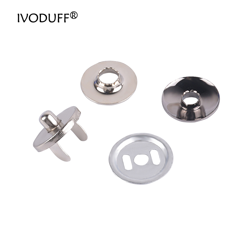 Magnet Snap Button 10 Sets Metal Magnet Buttons Magnetic Rivet Stud Purse Snap Clasps Closure Buckle Fastener for Purse