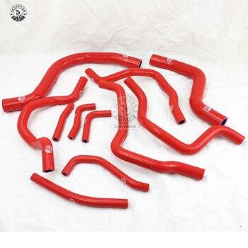 Silicone Radiator Hose Kit For MITSUBISHI LANCER Evolution EVO 7-9 CT9A 4G63 (11PCS) red/blue/black