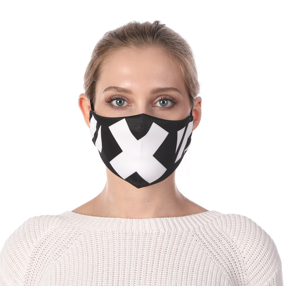 Zohra Fashion Printing Face Mask Reusable Protective PM2.5 Filter Mouth Mask Anti Dust Mask Windproof Adjustable Face Masks