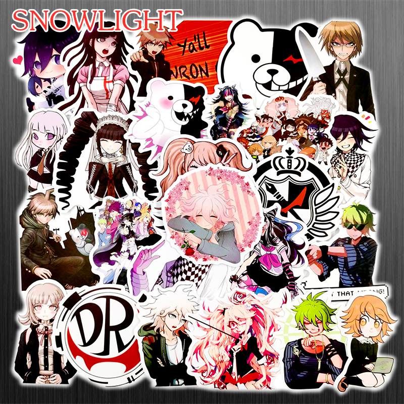 50PCS Mixed Danganronpa Game Stickers DIY Snowboard Laptop Luggage Fridge Guitar Graffiti Waterproof Classic Kid Toy Stickers