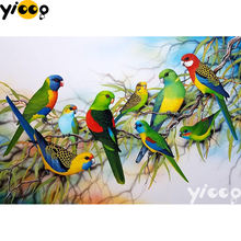 Полная квадратная/круглая алмазная живопись попугаи 5d «сделай