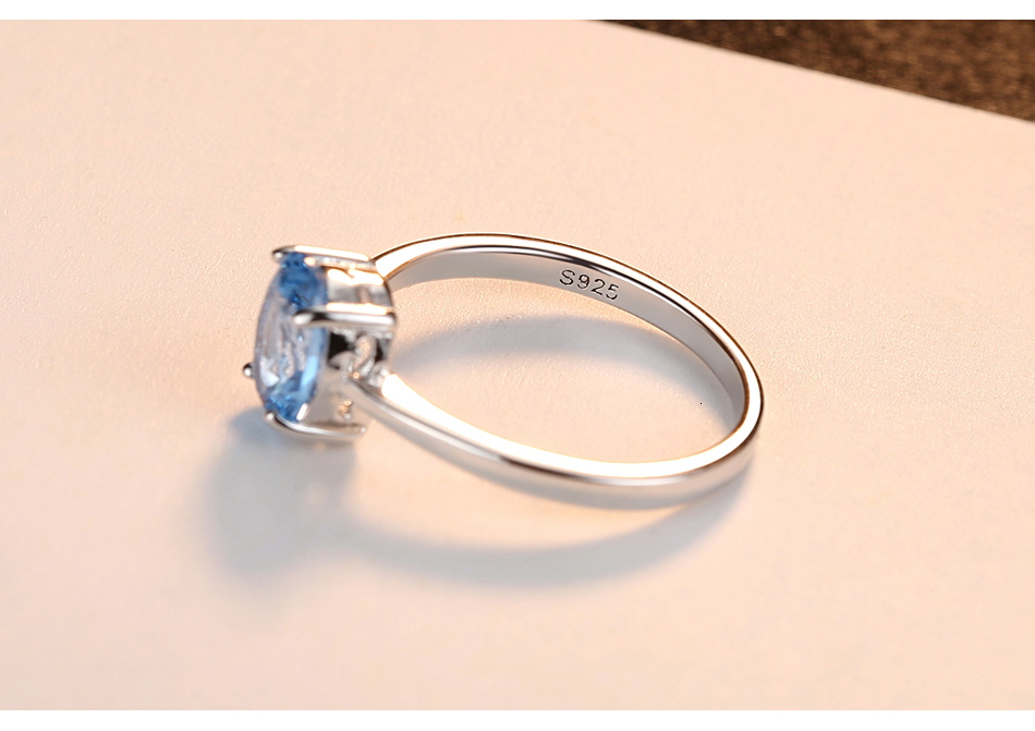 H7f962e0a0db64775a84360992b286199s CZCITY Natural Solitaire Sky Blue Oval Topaz Stone Sterling Silver Ring For Women Fashion S925 Fine Jewelry Finger Band Rings