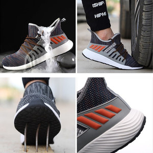 Image 3 - ความปลอดภัยรองเท้าทำงานก่อสร้างผู้ชายกลางแจ้งSteel Toe Capรองเท้าผู้ชายหลักฐานเจาะคุณภาพสูงน้ำหนักเบาความปลอดภัยรองเท้า