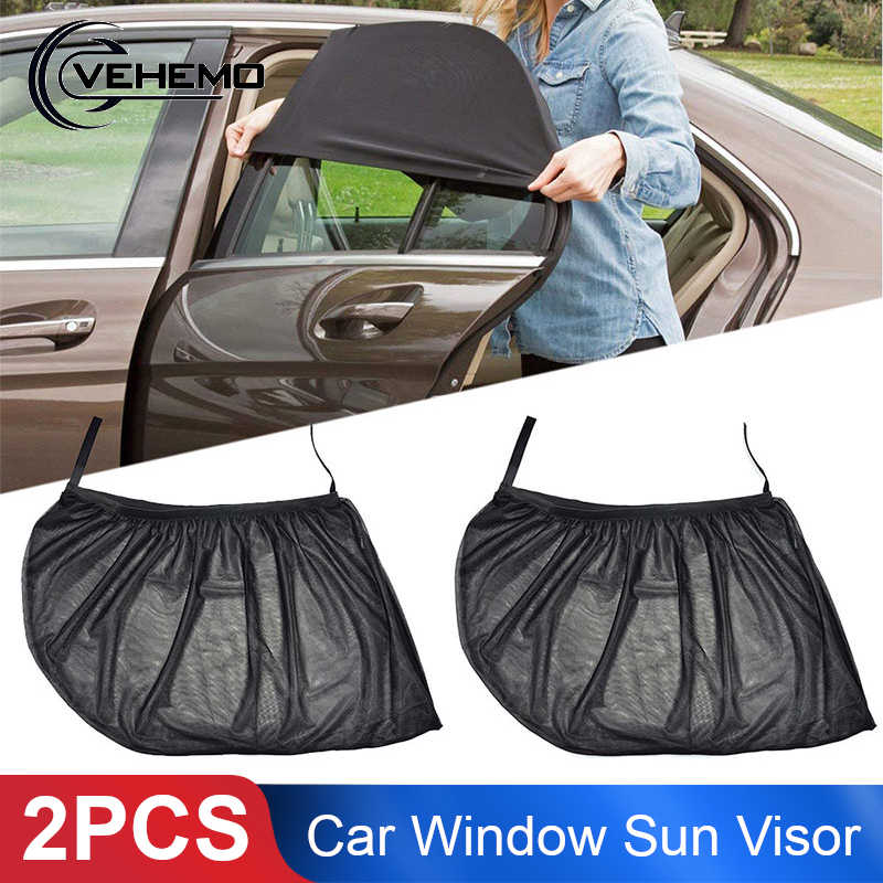 Vehemo 100*54cm 2Pcs Car SunShade Vehicle Auto Sun Visor UV Protection for Front Windshield Car-Styling Window Covers for Driver