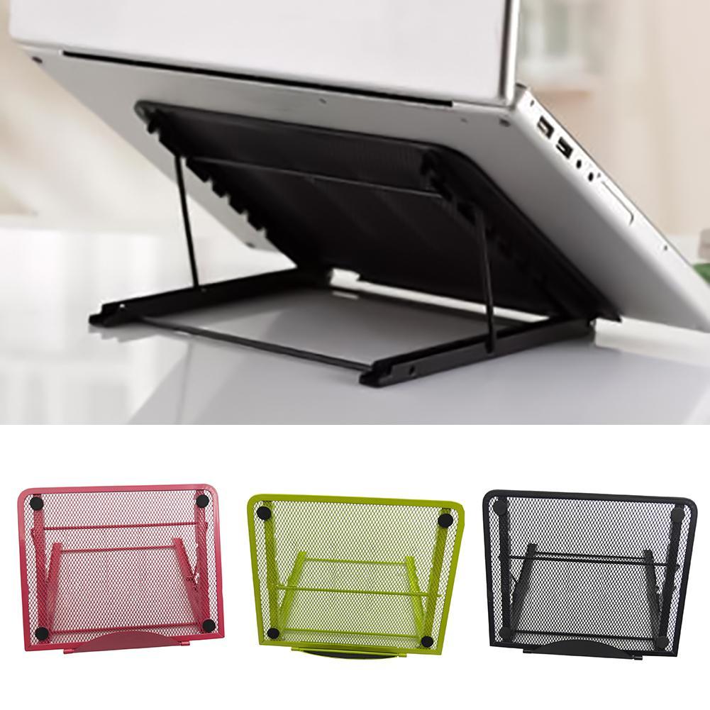 Otomobiller ve Motosikletler'ten Dizüstü Bilg. Standı'de Yeni ayarlanabilir ızgara katlanır soğutma standı dizüstü masası ergonomik taşınabilir dizüstü standı tepsisi PC masa standı dizüstü Laptop standı title=