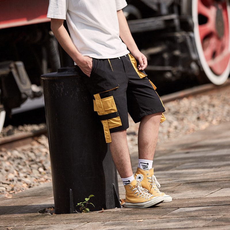 Men Shorts Casual Fashion Short Pants Knee Length Safari Harem Shorts Men Packets Cargo Pant