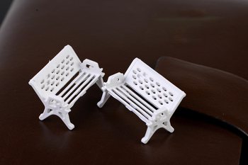 10 Pcs White Bench Park Chair Mossy Meat Micro-landscape Ecological Bottle Accessories Decoration Material Small Pendulum image
