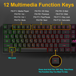Image 5 - Clavier de jeu iMice Imitation clavier mécanique rétro éclairage Spainsh clavier de joueur russe filaire clavier de jeu USB ordinateur