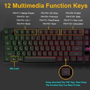 Image 5 - Tastiera da gioco iMice tastiera meccanica imitazione retroilluminazione tastiera da gioco russa inglese tastiera da gioco USB cablata Computer